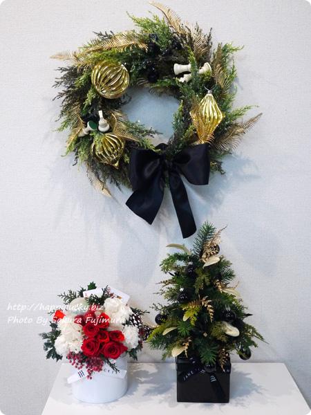 ジェーンパッカー×日比谷花壇コラボ クリスマス2016 大人なデザインのツリー、リース、アレンジメント