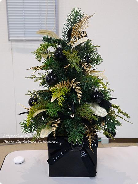 ジェーンパッカー×日比谷花壇コラボ クリスマス2016 JANE PACKER アーティフィシャルツリー「ダイスツリー」 落ち着いた大人の黒のツリー