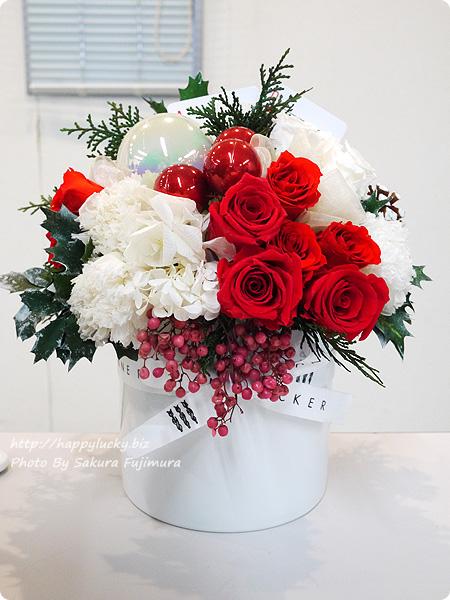 ジェーンパッカー×日比谷花壇コラボ クリスマス2016 JANE PACKER プリザーブドアレンジメント「ハートのA」 トランプがかわいい