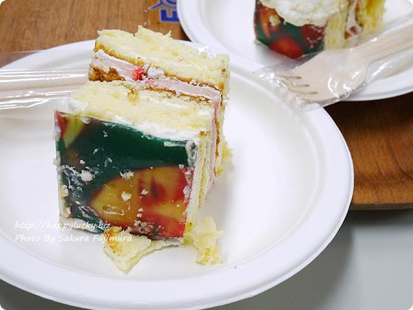 誕生日や記念日にお取り寄せのピクトケーキ(写真ケーキ) 顏部分が切り分けられればテンションあがる