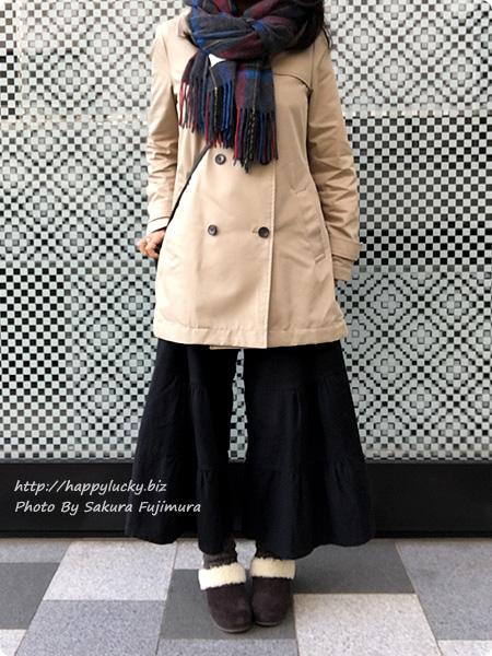 クロックス サラ ラックス ラインド クロッグ ウィメンで冷え取りファッション(着画)ガウチョ 黒