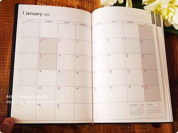 2017手帳・スケジュール帳 EDiT(エディット)1日1ページ 2017年1月始まり B6変型(ETA)/スープル 毎月カレンダー