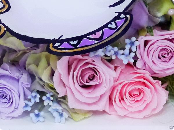 日比谷花壇 母の日 ディズニー フラワーフレームアート「ポット夫人とチップ」(ディズニー映画 『美女と野獣』より) プリザーブドフラワー(バラ)、アーティフィシャルフラワー(アジサイ、ラベンダー、小花)、ジュートファイバーのフラワーアレンジメント