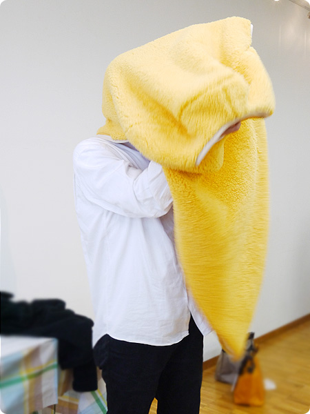 FELISSIMO(フェリシモ)「YOU+MORE!着るエビフライ寝袋」着用してみた その1