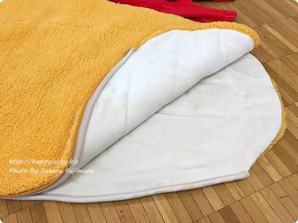 FELISSIMO(フェリシモ)で見せていただいた「YOU+MORE!着るエビフライ寝袋」 素材アップ
