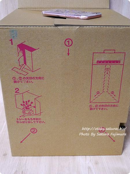 イーハナドットコム フラワーギフト梱包 箱の開け方