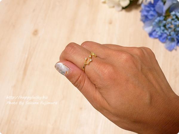 12星座モチーフの指輪(リング)ゴールド 蠍座 その1