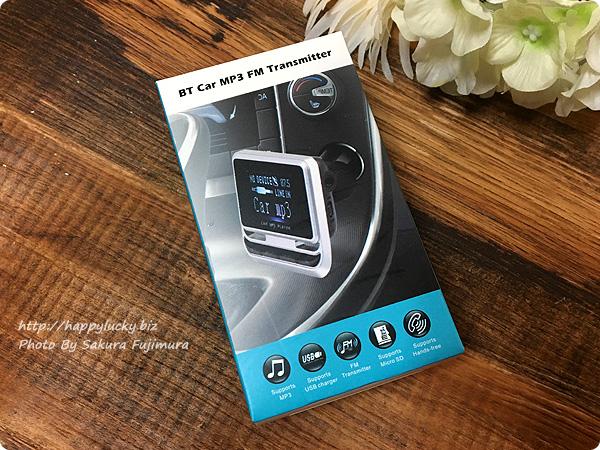 Bluetooth対応・TFカード(MicroSDカード)・USBメモリー対応、有線接続「AUX-IN」対応 FMトランスミッター