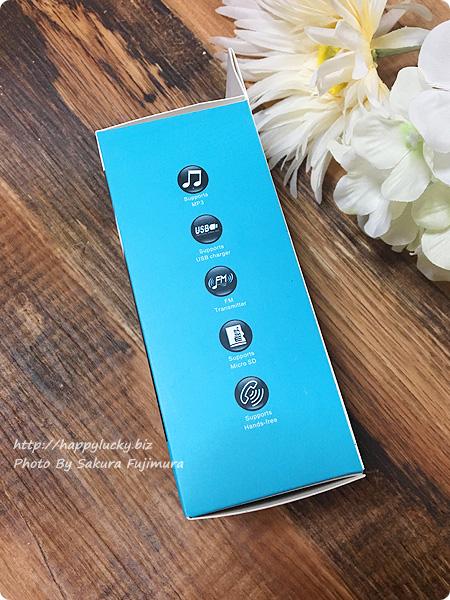 Bluetooth対応・TFカード(MicroSDカード)・USBメモリー対応、AUX-IN対応のFMトランスミッターを買った