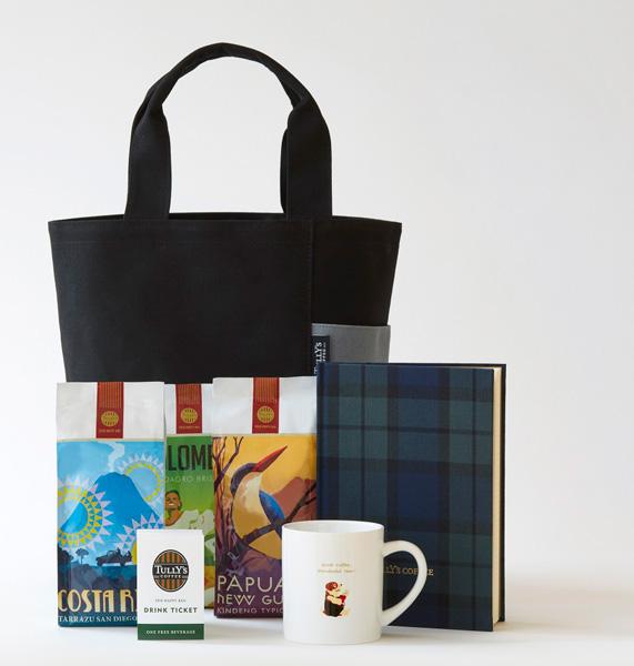 タリーズコーヒー福袋「2018 HAPPY BAG」 5,000円 限定トートバッグ(ブラック)