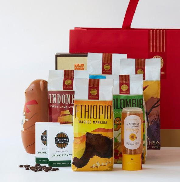タリーズコーヒー福袋「2018 HAPPY BAG」 10,000円 オリジナルペーパーバッグ