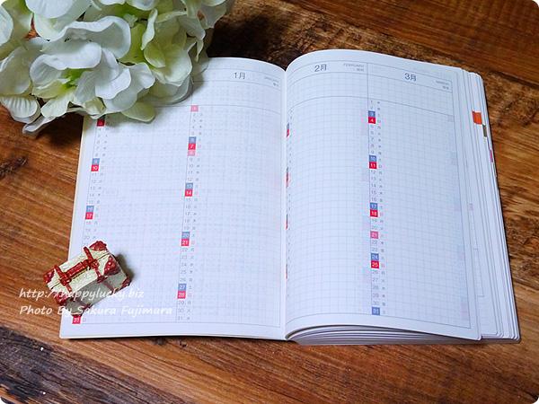 ほぼ日手帳オリジナル2018 1月はじまり 月曜はじまり 年間インデックス