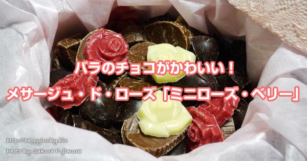 バラのチョコがかわいい!メサージュ・ド・ローズ「ミニローズ・ベリー」贈り物にも