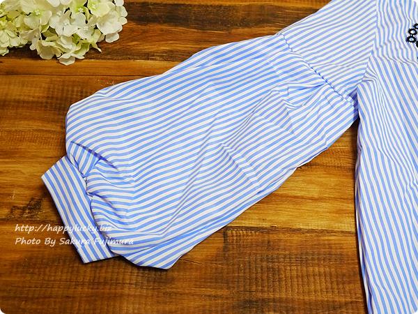 袖口バルーンの刺繍ブラウス 袖は二枚構造でふんわりする 【楽天市場LFO】