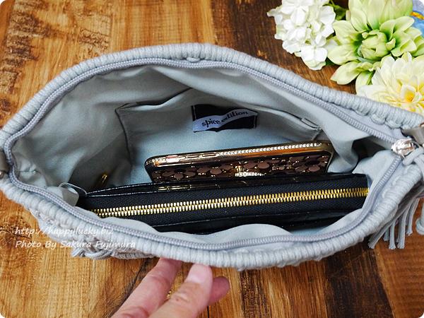【楽天市場JewelVox】編み込み2WAYショルダー&クラッチバッグ 長財布は楽々入る