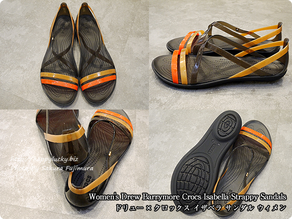 【crocsクロックス】Women's Drew Barrymore Crocs Isabella Strappy Sandals ドリュー × クロックス イザベラ サンダル ウィメン 全体
