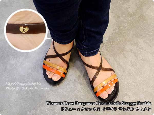 【crocsクロックス】Women's Drew Barrymore Crocs Isabella Strappy Sandals ドリュー × クロックス イザベラ サンダル ウィメン ストラップサンダル着画