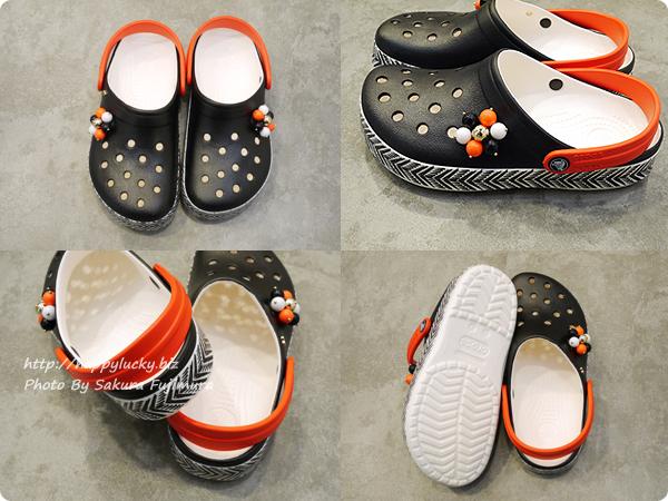 【crocsクロックス】Drew Barrymore Crocs Crocband™ Chevron Clog ドリュー × クロックス クロックバンド シェブロン クロッグ トライバル柄クロッグサンダル