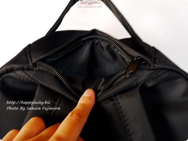 FELISSIMO(フェリシモ)「IEDIT きれいめに仕上げた8ポケットブラックリュック」 上部ポケット
