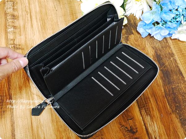 楽天市場スタイルオンバッグ(Style on Bag)】実用性にこだわった大容量 本革製ラウンドファスナー長財布 カード収納緑その1