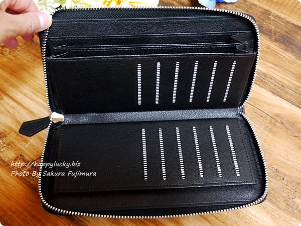 楽天市場スタイルオンバッグ(Style on Bag)】実用性にこだわった大容量 本革製ラウンドファスナー長財布 カード収納緑その2