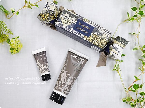 イギリス発ナチュラルアロマケアコスメCOWSHED(カウシェッド)クリスマスギフトコレクション bullocks cracker(ブロックスクラッカー) シェービングクリームと保湿クリームのセットは男性へのプレゼントに。