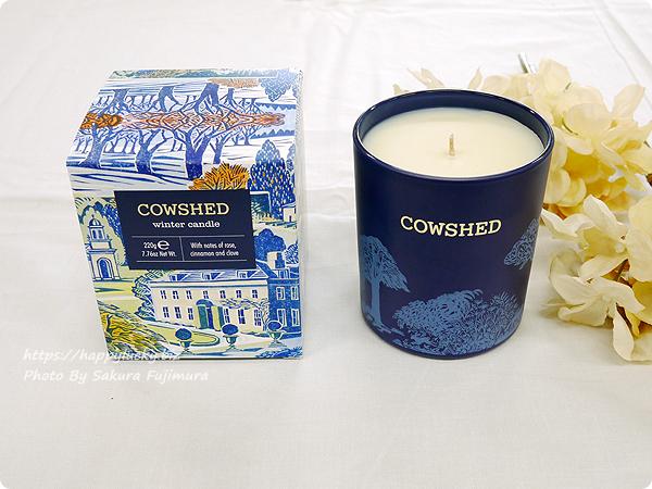 イギリス発ナチュラルアロマケアコスメCOWSHED(カウシェッド)クリスマスギフトコレクション winter candle(ウインターキャンドル)