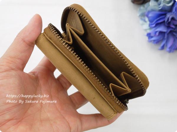ミニレザーウォレット 本革ミニ財布 三つ折りコンパクト【名入れ可】 手のひらサイズ