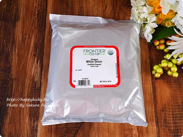 【iHerbアイハーブ購入品】Frontier Natural Products, オーガニック チョップト・ホワイトオニオン, 16 オンス (453 g)