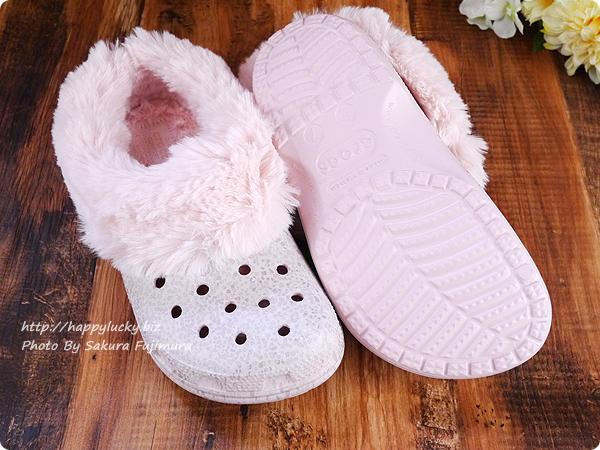 crocs クロックス Classic Mammoth Luxe Radiant Clog(クラシック マンモス ラックス ラディアント クロッグ)ピンク 靴底