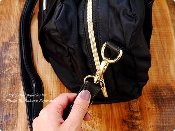 FELISSIMO(フェリシモ)IEDIT[イディット] 大きく開いて中が見やすい 軽やかきれいな大人ナイロンボストンバッグ〈ブラック〉 ショルダーストラップは取り外し可能