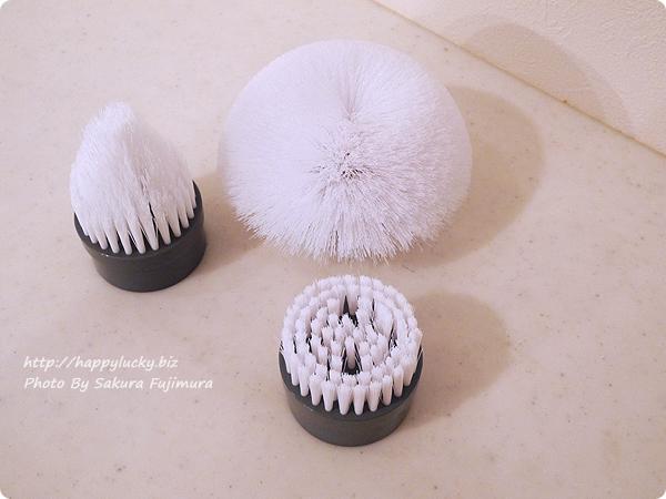 充電式風呂用電動回転ブラシ「ターボスクラブ」付属するブラシ三種類