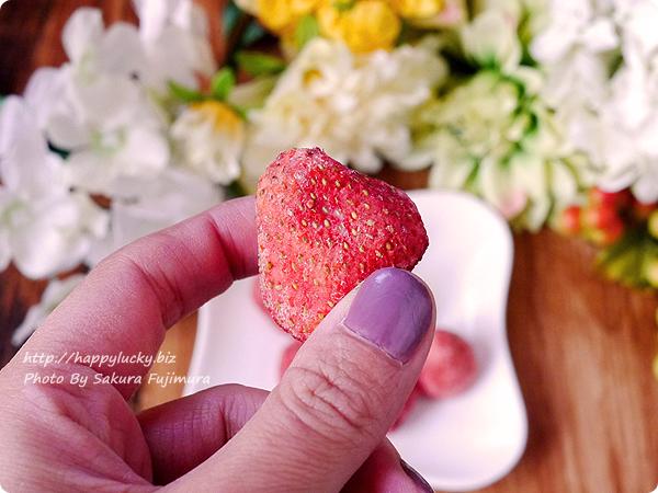 「ホワイトいちごチョコ」粒の大きさ<楽天市場アンジェ>