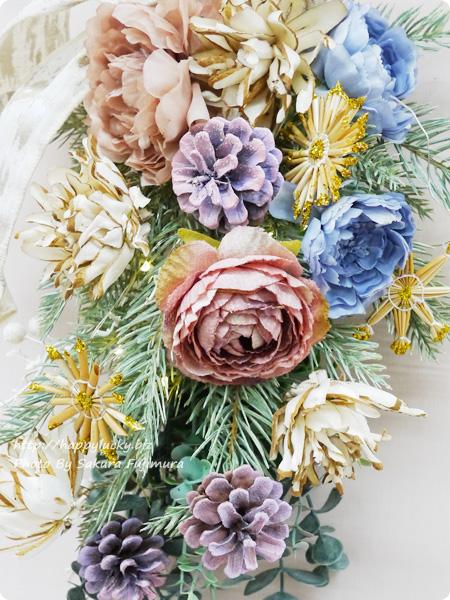 日比谷花壇クリスマス アーティフィシャルスワッグ「アーブル」アップ