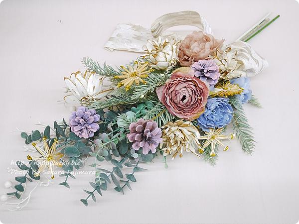 日比谷花壇クリスマス アーティフィシャルスワッグ「アーブル」置いたところ
