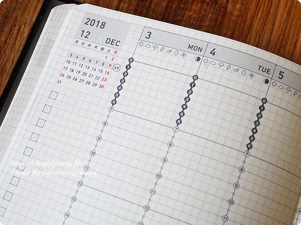コクヨ ジブン手帳Biz mini 2019 シンプルで落ちついた色味のフォント(書体)と文字色