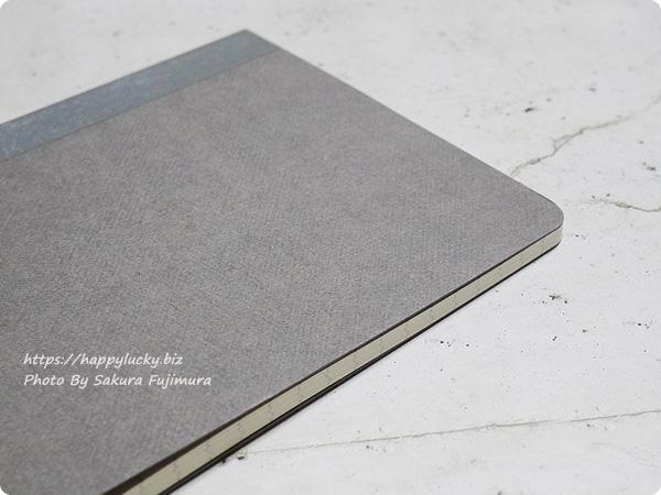 無印良品 上質紙スリムノート横罫縦ドットB6スリム マチは厚さ5mm