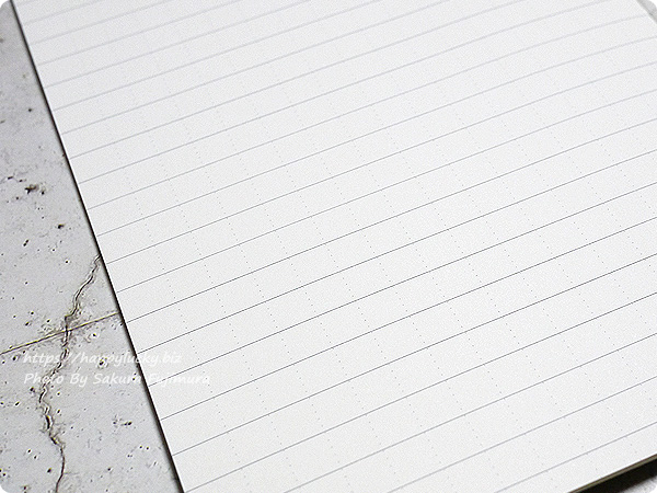 無印良品 上質紙スリムノート横罫縦ドットB6スリム 罫線横に縦ドット入り 全体 アップ