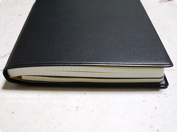 ジブン手帳Biz miniに無印良品 上質紙スリムノート横罫縦ドットB6スリムをはさんでみた その2