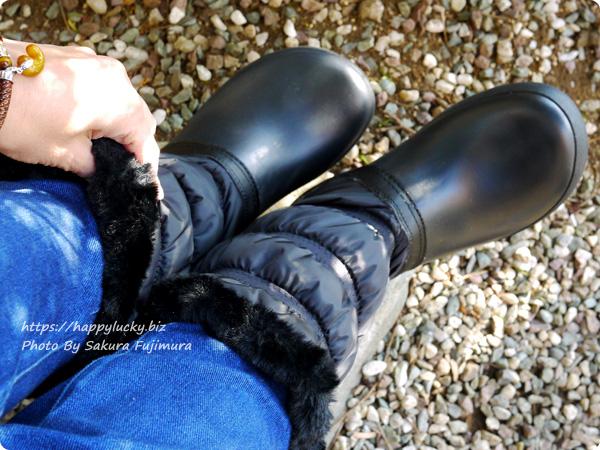 クロックス crocs Women's Crocband Winter Boot クロックバンド ウィンター ブーツ ウィメン 履いてみた着画 ファーでブーツの中に冷気が入ってこない