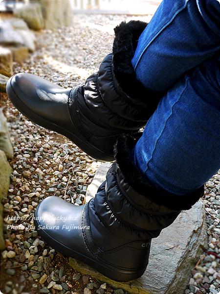 クロックス crocs Women's Crocband Winter Boot クロックバンド ウィンター ブーツ ウィメン 筒がナイロンなせいか軽く、重みが少ない