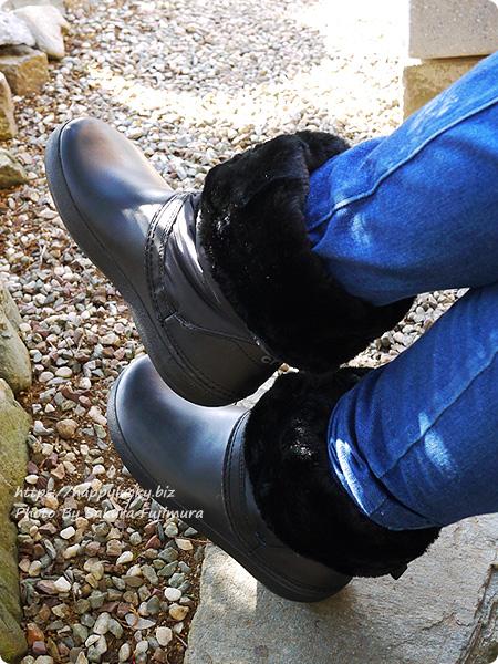 クロックス crocs Women's Crocband Winter Boot クロックバンド ウィンター ブーツ ウィメン 履き口を折り曲げてみると2WAYになる