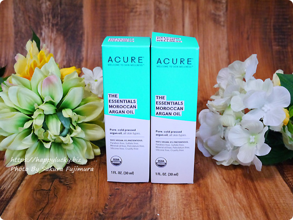 iherb(アイハーブ) Acure, The Essentials モロッコ産アルガンオイル 1 fl oz (30 ml) パッケージ
