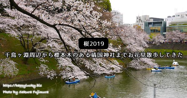 【桜2019】千鳥ヶ淵周辺から標本木のある靖国神社までお花見散歩をしてきた