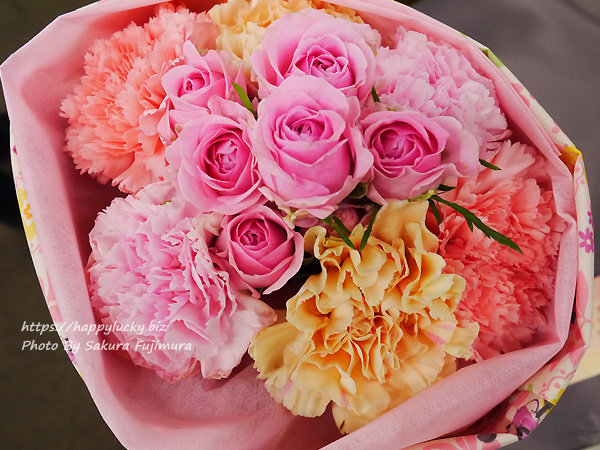 母の日2019 ディズニー トートバッグブーケ「シャン・ド・フルール(ミニーマウス)」日比谷花壇 花アップ