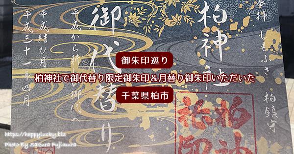 【御朱印巡り】柏神社で御代替り限定御朱印&月替り御朱印いただいた<千葉県柏市>