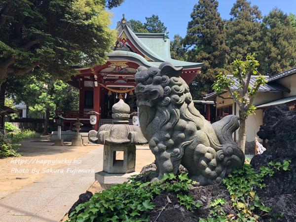 柏諏訪神社 狛犬