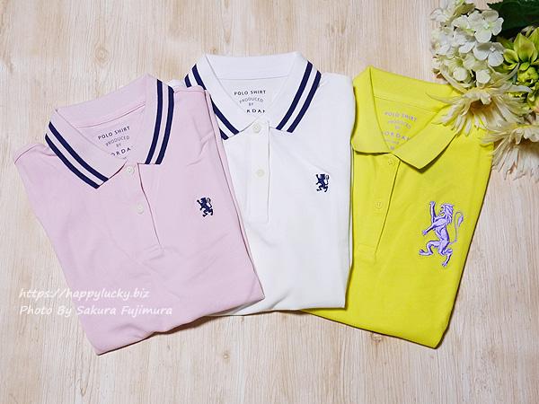 GIORDANO(ジョルダーノ)ライオン刺繍のポロシャツ(レディース)3枚買った