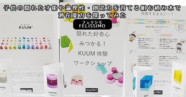 「KUUM(クーム)」子供の隠れた才能や論理性・創造力を育てる組む積み木で潜在能力を探ってみた<フェリシモ>