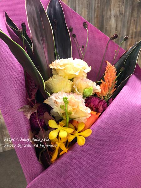 秋の花で花束を作ってみた